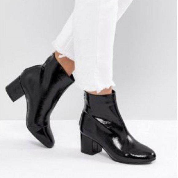 Wide Fit Block Heel Ankle Boot   Poshmark
